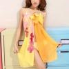 BW018 ผ้าคลุมเดินชายหาด yellow dream【พร้อมส่ง】