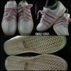 K-SWISS สีขาวคาดชมพู สภาพ 90% size 39