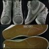 NIKE สีเทาหนังกลับคาดขาว (หุ้มข้อ) สภาพ 95% size 46