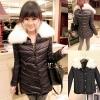 ++สินค้าพร้อมส่งค่ะ++ เสื้อ coat เกาหลี ตัวยาว แขนยาว กระดุมหน้ายาว แต่งด้วยขนเฟอร์เป็นคอปกเสื้อ สามารถอดได้ – สีดำ