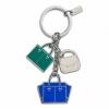 พวงกุญแจ COACH HANDBAGS MIX KEYCHAIN KEYRING FOB W/ DUSTBAG F69938 B4/MC