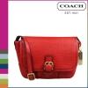 กระเป๋า Coach F31664  B4B/RD Hadley Luxe Grain Leather Field CrossBody Bag สีแดง