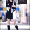 ++เสื้อผ้าไซส์ใหญ่++ Qian Yi *Pre-Order *ชุดเดรสเกาหลีไซส์ใหญ่แขนยาวผ้ายืดเนื้อนุ่มตรงกระโปรงแต่งระบายเป็นชั้นๆๆ
