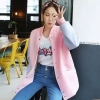 ++สินค้าพร้อมส่งค่ะ++ Jacket เกาหลี คอกลม แขนยาว ผ้า cotton space สไตล์ baseball หวาน มี 2 สีค่ะ – สีชมพู