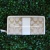 กระเป๋าสตางค์  COACH F49159 SIGPZ PARK SIGNATURE ACCORDION ZIP WALLET