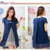 เสื้อผ้าไซส์ใหญ่++ioeoi*พร้อมส่ง*เสื้อผ้าไซส์ใหญ่ผ้าชีฟองสีน้ำเงินคอเหลี่่ยมแขนสั้นระบาย แต่ด้านหน้าชุดเหมือนใส่ 2 ตัว มีซับในอย่างดีค่ะ