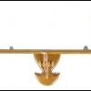 หิ้งพระเสาลูกกลึง ไม้สัก สีไม้สักธรรมชาติ มีให้เลือก 8 ขนาด (หน้ากว้าง 30 - 100 ซม.)