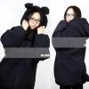 ++สินค้าพร้อมส่งค่ะ++ เสื้อกันหนาวเกาหลี ขนสัตว์ หมี Teddy มี Hood แต่งหูและหางหมี ขนหนามากค่ะ - สีดำ