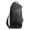 สินค้าอยู่ USA : กระเป๋า Coach Mens Heritage Web Leather Sling Bag Backpack F70811 สีดำ