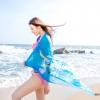 BW031 ผ้าคลุมเดินชายหาด สีฟ้า【พร้อมส่ง】