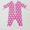 BDS-179 (9-12M) ชุดหมี Adams Baby  สีชมพูเข้ม ลายวงกลมสีชมพูอ่อน