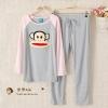 ++สินค้าพร้อมส่งค่ะ++ชุดนอนเกาหลี เสื้อแขนยาวคอกลม ปักทอหน้า paul frank ด้านหน้า+กางเกงขายาว สีสันน่ารัก มี 4 สีค่ะ – สี เทา