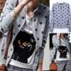++สินค้าพร้อมส่งค่ะ++ เสื้อ jacket เกาหลี แขนยาว ซิบหน้า ผ้าพิมพ์ลายดาว แต่งกระเป๋า 2 ข้าง น่ารัก มี 3 สีค่ะ – สีเทา