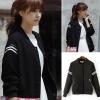 ++สินค้าพร้อมส่งค่ะ++ jacket เกาหลี แขนยาว คอกลม ผ้า polyester เนื้อดีค่ะ ดีไซด์เสื้อ basewheel มี 2 สีค่ะ – สีดำ