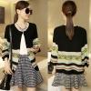 ++สินค้าพร้อมส่งค่ะ++ เสื้อแฟชั่น cardigan แขนยาว ผ้า knitting สีสวยหวาน – สีดำ