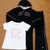 GS-585 (4Y) ชุด Nike (3 ชิ้น)  เสื้อกันหนาวผ้ากำมะหยี่สีดำ+กางเกง+เสื้อยืดสีขาว