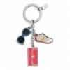 พวงกุญแจ COACH F62509 SV/MC Multi Mix Keyfob