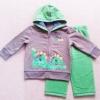 ฺBS-276 (18M) ชุดกันหนาว เสื้อสีเทาหมวกเขียว ปักลายไดโนเสาร์ และกางเกงสีเขียว