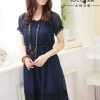 ++เสื้อผ้าไซส์ใหญ่++ ioeoi *Pre-Order *ชุดเดรสเกาหลีไซส์ใหญ่ผ้าชีฟองแขนตุ๊กตาติดยางยืดน่ารักมากค่ะ