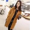 ++สินค้าพร้อมส่งค่ะ++ เสื้อcoat เกาหลี แขนยาว ผ้าเนื้อดี มีกระดุมด้านหน้า มีกระเป๋า 2 ข้าง– สีเหลือง