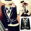 Snidel ++สินค้าพร้อมส่งค่ะ++เสื้อสเวตเตอร์เกาหลี คอกลม แขนยาว ทอลายเสื้อสูท ดีไซด์ Vivi เก๋มากๆ ค่ะ – สีดำ
