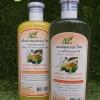 Setแชมพู+ครีมนวด 4พลังธรรมชาติ (มะกรูด+ว่านหาง+น้ำมันงา+น้ำมันมะกอก)