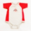 ฺBDS-370 (12M) ชุดบอดี้สูท Nike สีเทา-แดง กุ๊นริมขาว ปัก OHIO STATE และปักสัญลักษณ์ Nike ที่ปลายแขน