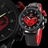 SH090 Shark Black Red