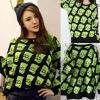 ++สินค้าพร้อมส่งค่ะ++ เสื้อสเวตเตอร์เกาหลี แขนยาว คอกลม ทอลาย Simsons ทั้งตัว มี 3 สีน่ารักค่ะ – สีเขียว
