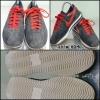 รองเท้าแฟชั่น สีน้ำเงินคาดแดง สภาพ 80% size 37