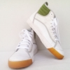 รองเท้าผ้าใบ PUMA ทรงหุ้มข้อ สีขาว-เขียว เบอร์ 44