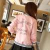 ++สินค้าพร้อมส่งค่ะ++Jacket เกาหลี คอกลม แขนยาว ผ้า cotton space สไตล์ baseball สกรีนเก๋ Aeroplane มี 6 สีค่ะ – สีชมพู