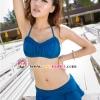 【พร้อมส่ง M L】SB2038 ชุดว่ายน้ำ บิกินี่ ทูพีช ทรงวินเทจ กางเกงกระโปรง สีสันสดใส