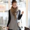 ++สินค้าพร้อมส่งค่ะ++ชุดกระโปรงทำด้วยผ้าขนสัตว์เกาหลีบางลูกไม้รอบชุด - สีเทา