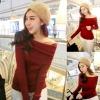 ++สินค้าพร้อมส่งค่ะ++ เสื้อเปิดไหล่เกาหลี แขนยาว ผ้า knitted เนื้อดี ดีไซด์พับคอเสื้อคงมาเป็นเปิดไหล่ค่ะ มี 3 สีค่ะ – สีBurgundy