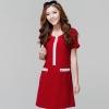 ++เสื้อผ้าไซส์ใหญ่++Per-order++ชุดเดรสเกาหลีไซส์ใหญ่คอกลมแขนสั้นแต่งซิปต้านหน้าและแขนเสื้อสวยค่ะ