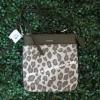 กระเป๋า Coach 51140 LICHT Madison Chestnut Ocelot Jacquard Leather Swingpack