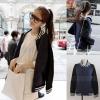 ++สินค้าพร้อมส่งค่ะ++ เสื้อ cardigan เกาหลี แขนยาว สไตล์ baseball กระดุมหน้าเก๋มากค่ะ – สี Dark Blue