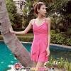 【พร้อมส่ง XL】SB1015 ชุดว่ายน้ำวันพีช ทรงกระโปรง เรียบร้อย lady pink