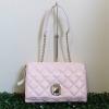 กระเป๋า Kate Spade WKRU2334 สะพายข้าง หนังแท้ทรงเดียวกับ Chanel Flap สีชมพูอ่อน
