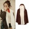 ++สินค้าพร้อมส่งค่ะ++ เสื้อ coat เกาหลี ตัวยาว แขนยาว สไตล์ cardigan มี hood แต่งกระเป๋าใหญ่สองข้าง – สีKhaki