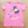 GSH-411 (4-5Y) เสื้อ Disney สีชมพู ลายมินนี่ใส่แว่นตาติดเพชร  ติดดอกกุหลาบผ้า สีเหลือง