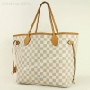 กระเป๋ามือสอง LOUIS VUITTON Damier Azur Neverfull MM Shoulder Tote