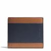 กระเป๋าสตางค์ COACH 74792 AHE SL/BK HERITAGE colorblock leather Wallet compact ID case holder