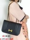 กระเป๋าสะพายข้างสำหรับสุภาพสตรีแฟชั่น เกรดพรีเมี่ยม (สีดำ)