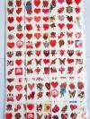 สติ๊กทู/ รอยสักปลอม /รูปลอกน้ำ รูปหัวใจ (ราคาสินค้าต่อแผง)