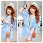 Baby Nanda mini Dress (สีฟ้า)