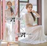 Lady Hannah Haute Sophisticated White Lace Maxi Dreess