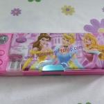 กล่องดินสอแม่เหล็ก เจ้าหญิง princess#2 มีกบเหลาในตัว เปิดปิดได้สองด้าน