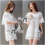 Lady Anna Classic Elegant Lace Mini Dress